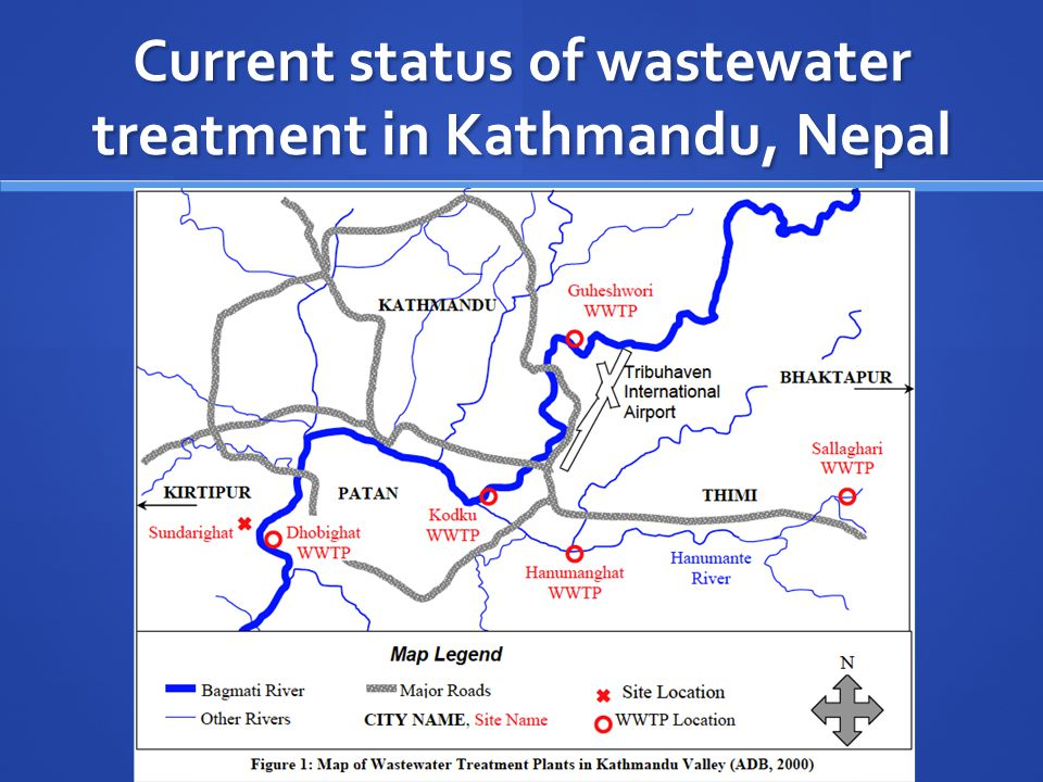 Current status of wastewater treatment in Kathmandu, Nepal