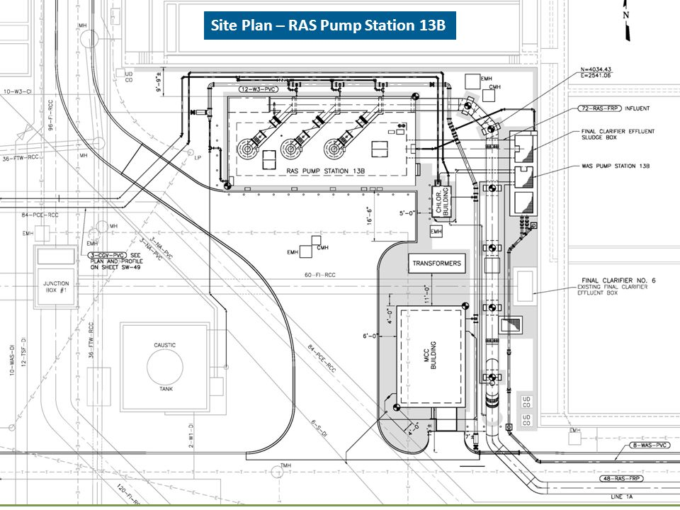 Site Plan – RAS Pump Station 13B