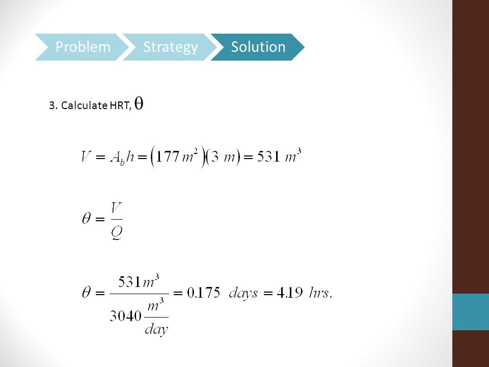 3. Calculate HRT, 