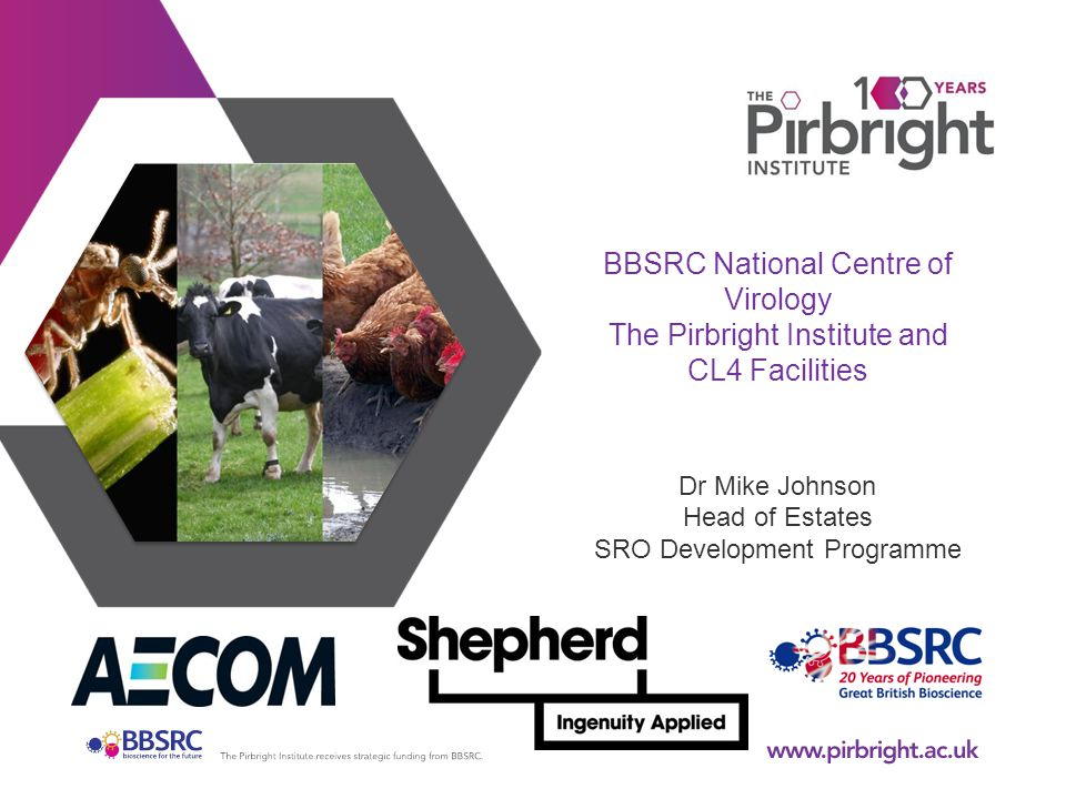 BBSRC National Centre of Virology The Pirbright Institute and CL4 Facilities Dr Mike Johnson Head of Estates SRO Development Programme