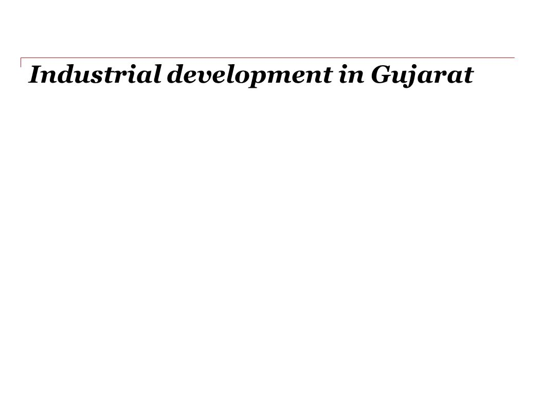 Industrial development in Gujarat