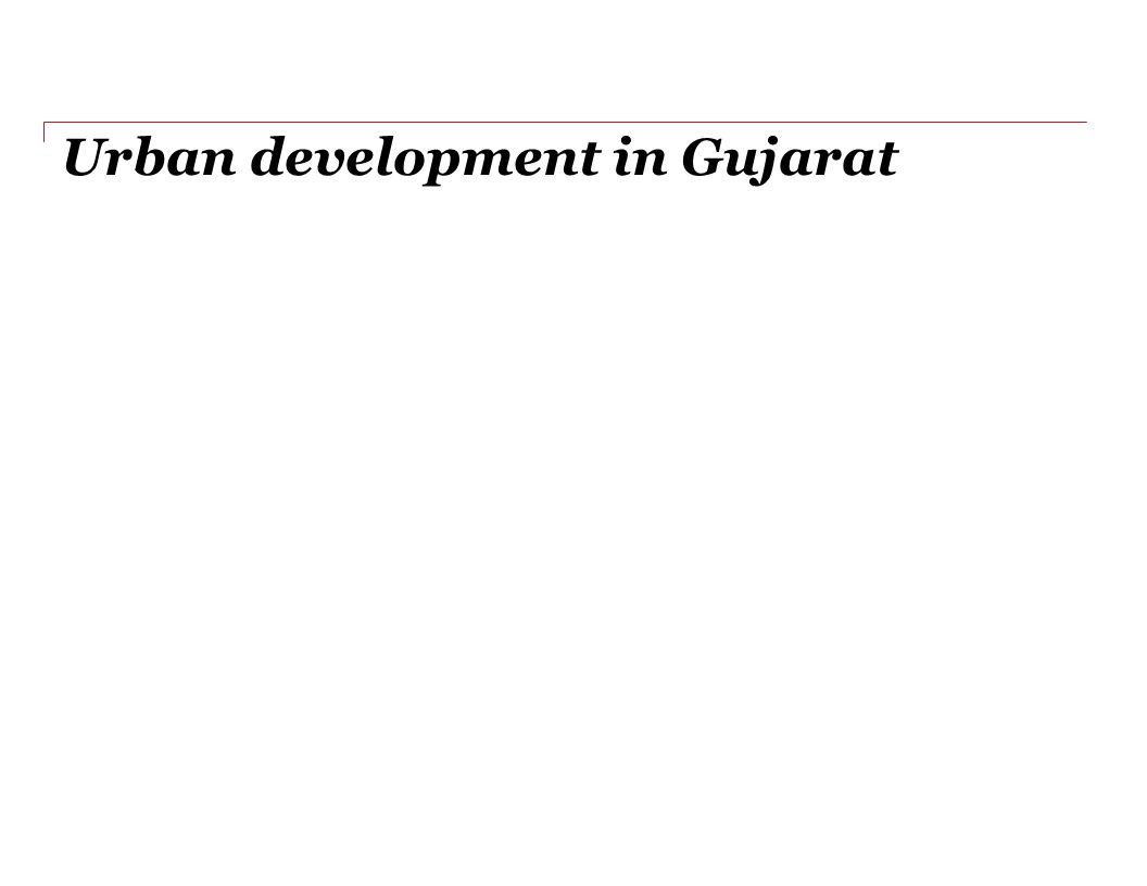 Urban development in Gujarat