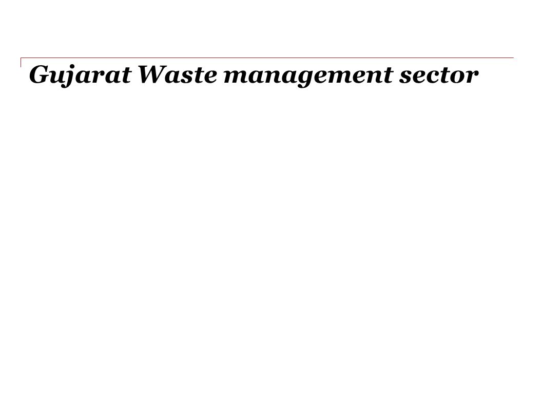 Gujarat Waste management sector