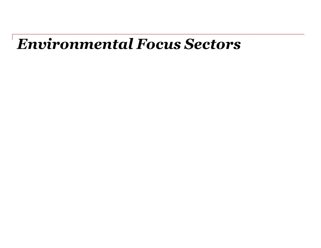 Environmental Focus Sectors