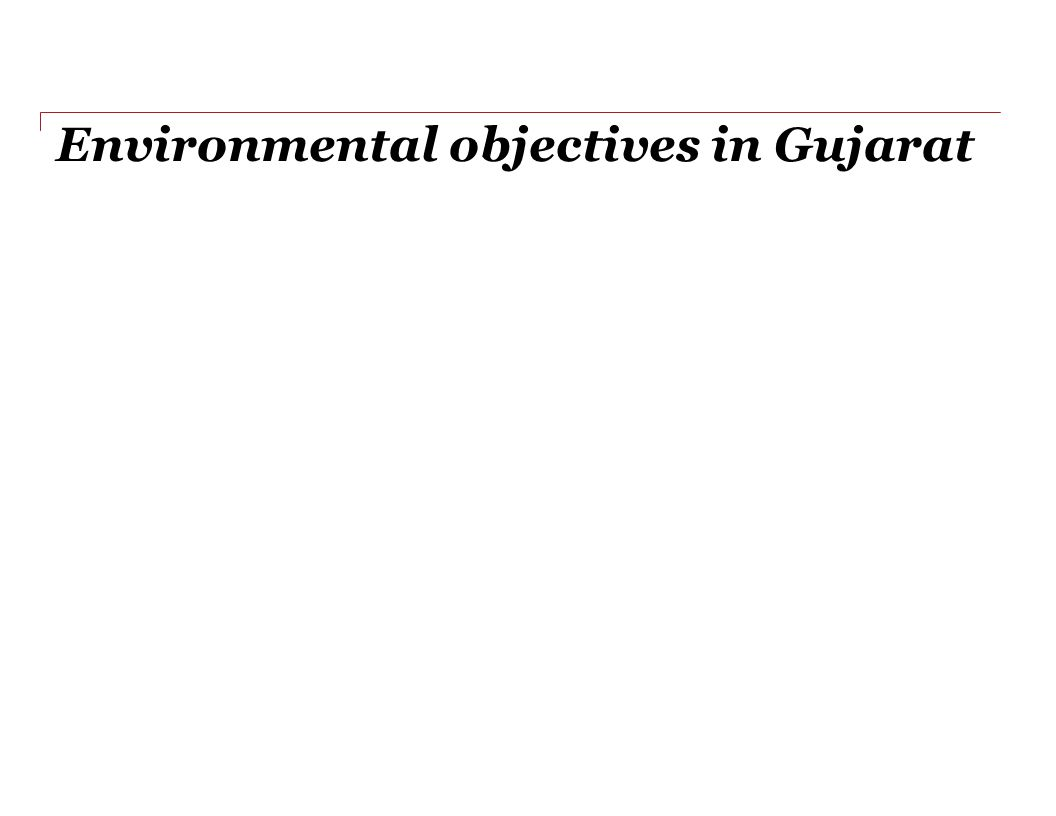 Environmental objectives in Gujarat