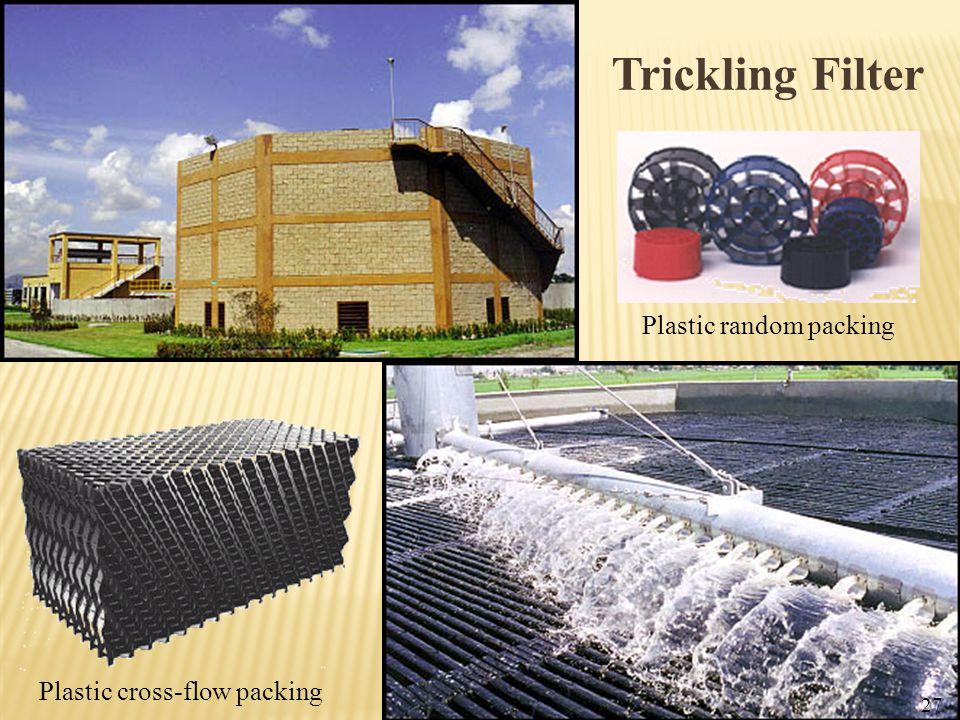 Trickling Filter Plastic cross-flow packing Plastic random packing 27