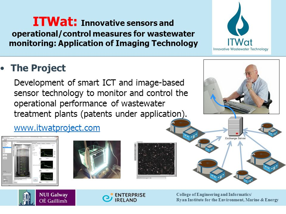 ITWat: Innovative sensors and operational/control measures for wastewater monitoring: Application of Imaging Technology The Project Development of sma