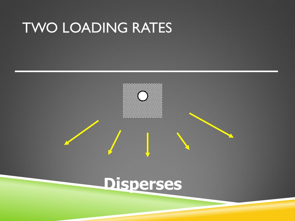 TWO LOADING RATES Disperses
