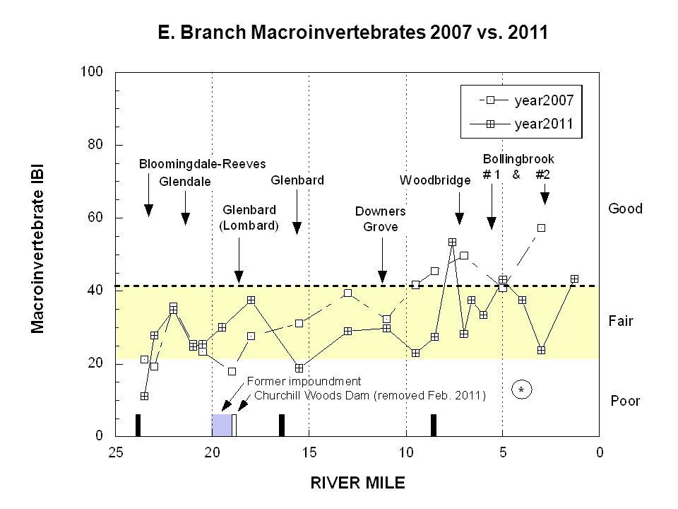 E. Branch Habitat 2007, 2011, & 2012
