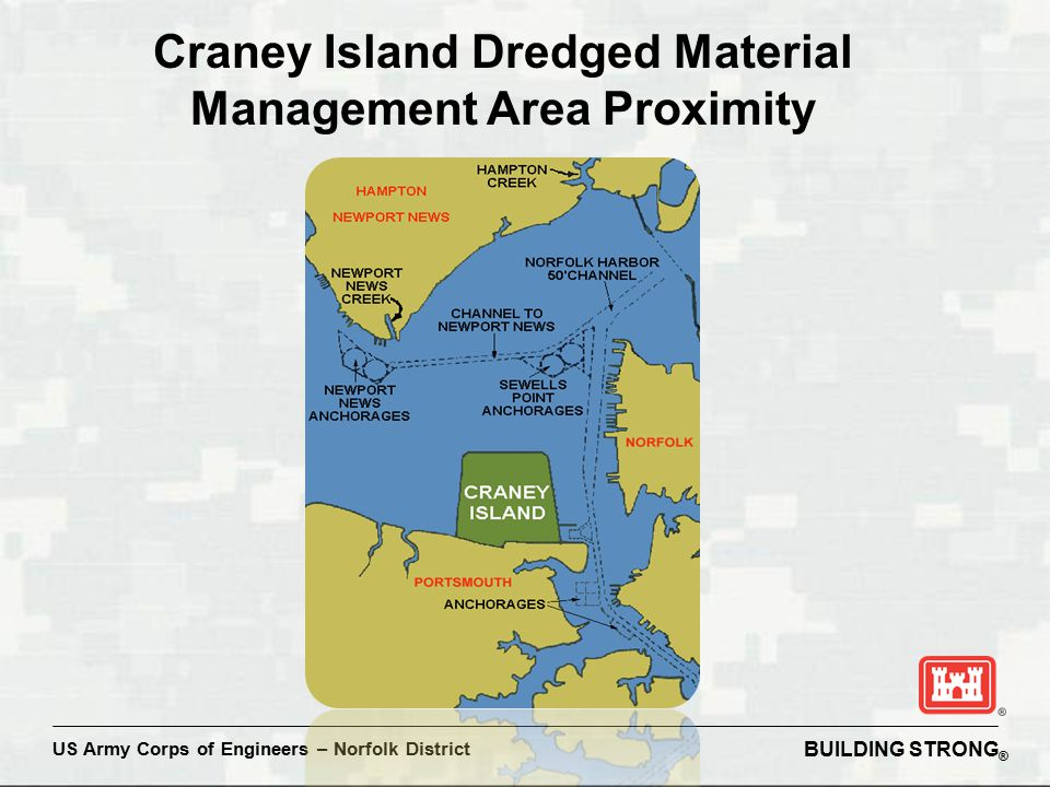 BUILDING STRONG ® US Army Corps of Engineers – Norfolk District Craney Island Dredged Material Management Area Proximity