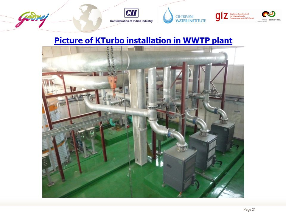 Page 21 Picture of KTurbo installation in WWTP plant