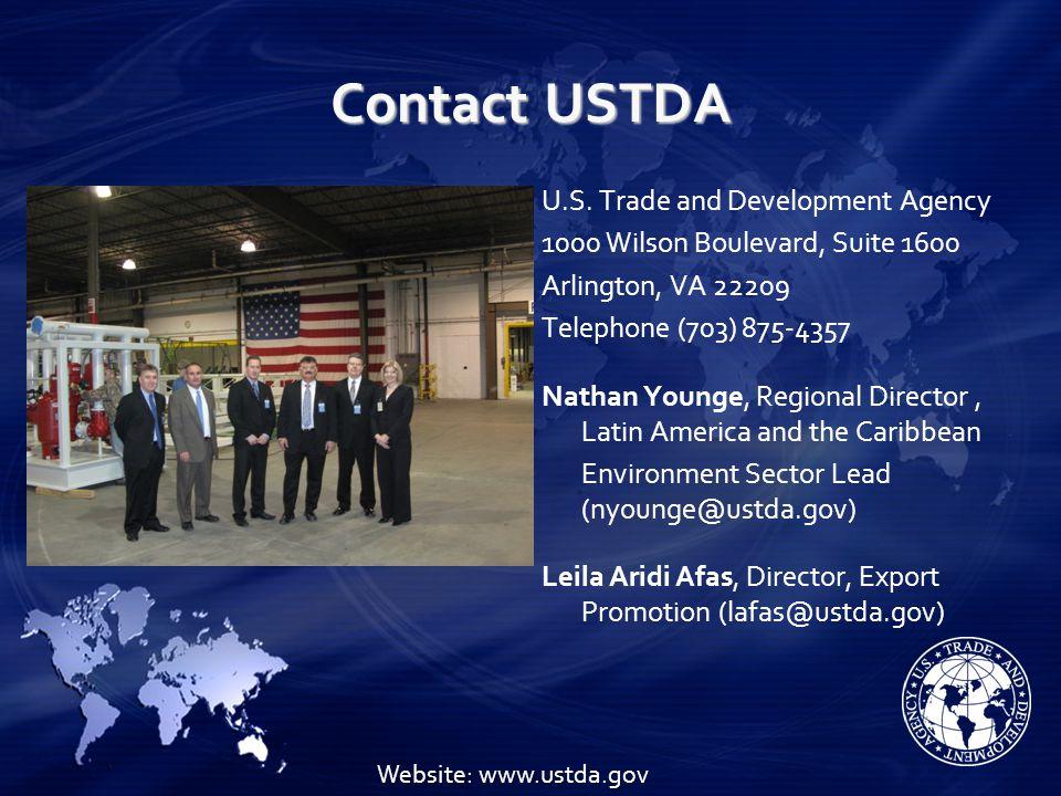 Contact USTDA U.S.