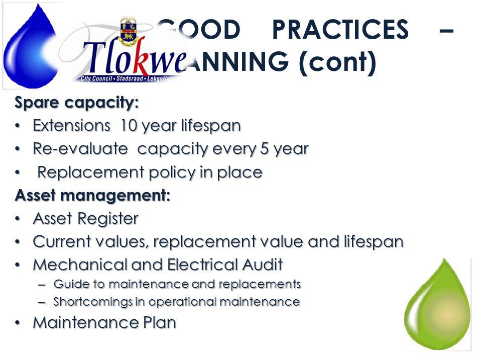 GOOD PRACTICES – RISK ABATEMENT PLAN (RAP) Develop and implement a Risk Abatement Plan Develop and implement a Risk Abatement Plan