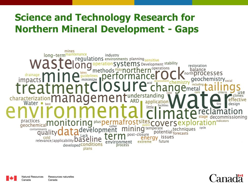 Science and Technology Research for Northern Mineral Development - Gaps