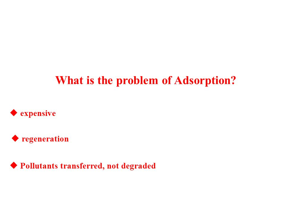 What is the problem of Adsorption.