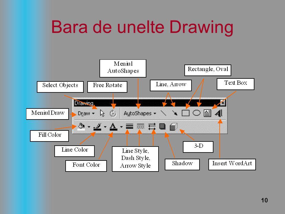10 Bara de unelte Drawing