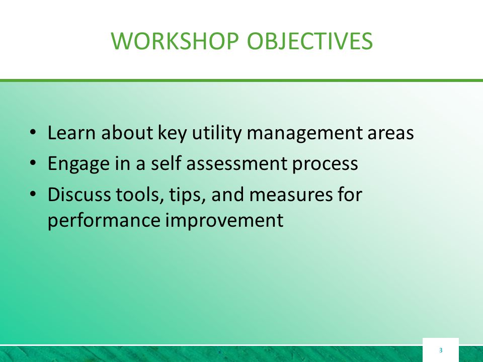 OVERVIEW OF KEY MANAGEMENT AREAS Outcomes Well Managed Utilities Strive For