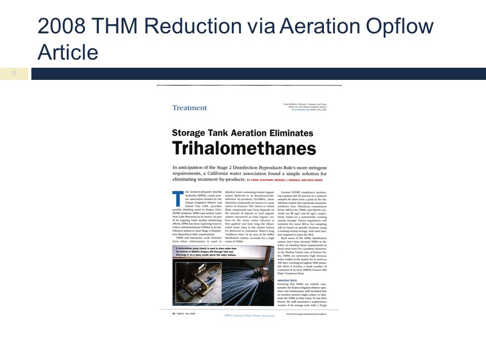 2008 THM Reduction via Aeration Opflow Article 9