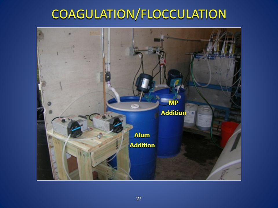 27 COAGULATION/FLOCCULATION AlumAddition MPAddition