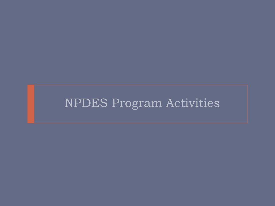 NPDES Program Activities