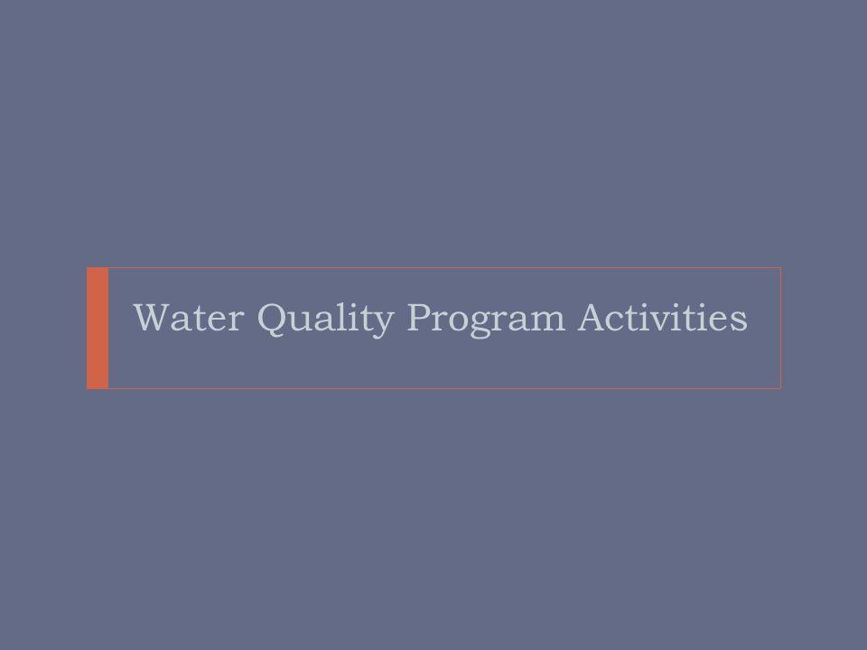 Water Quality Program Activities