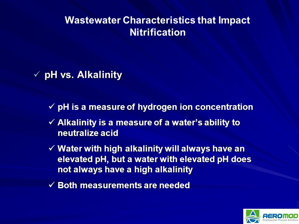 pH vs. Alkalinity pH vs. Alkalinity pH is a measure of hydrogen ion concentration pH is a measure of hydrogen ion concentration Alkalinity is a measur