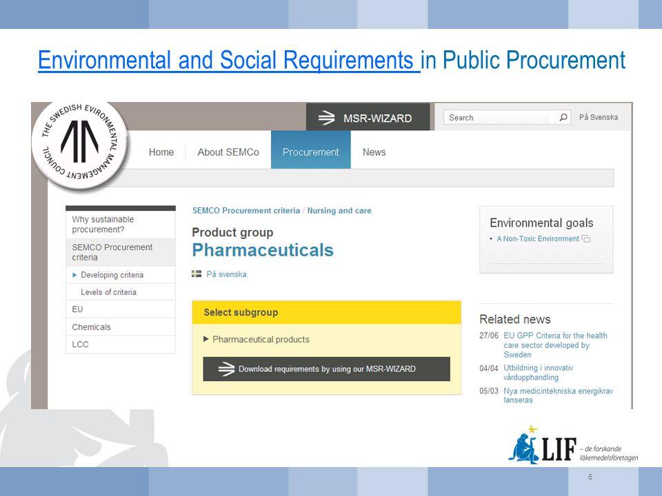 Environmental and Social Requirements Environmental and Social Requirements in Public Procurement 6