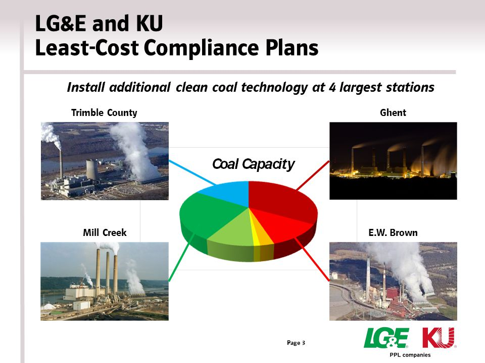 LG&E and KU Least-Cost Compliance Plans Page 3 Trimble County Mill Creek Ghent E.W.