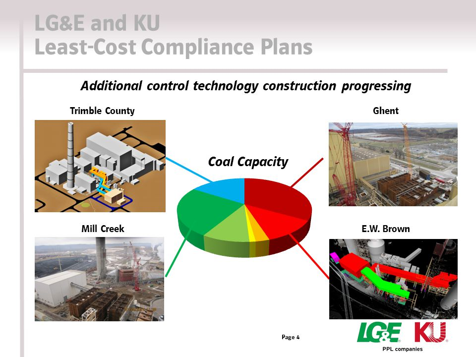 LG&E and KU Least-Cost Compliance Plans Page 4 Trimble County Mill Creek Ghent E.W.