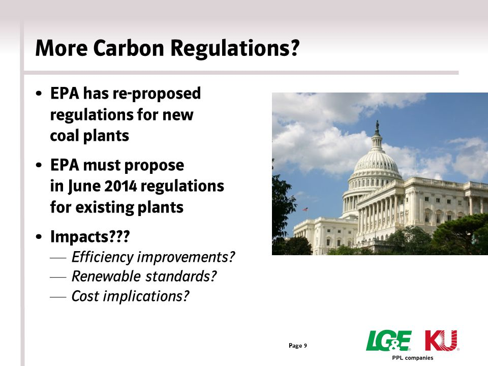 More Carbon Regulations.