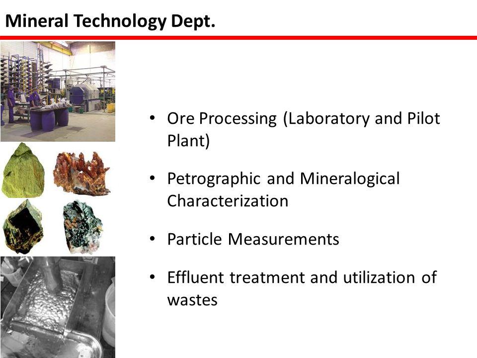 Mineral Technology Dept.
