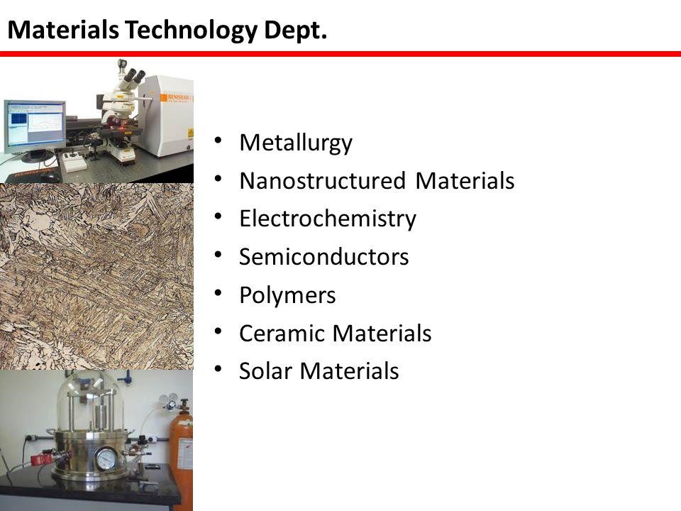 Chemical Technology Dept.
