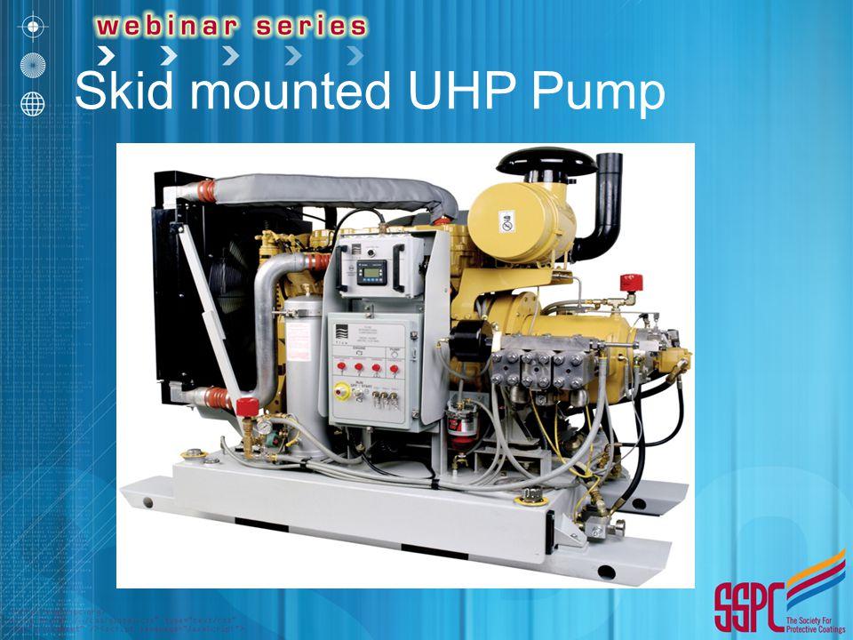 Skid mounted UHP Pump