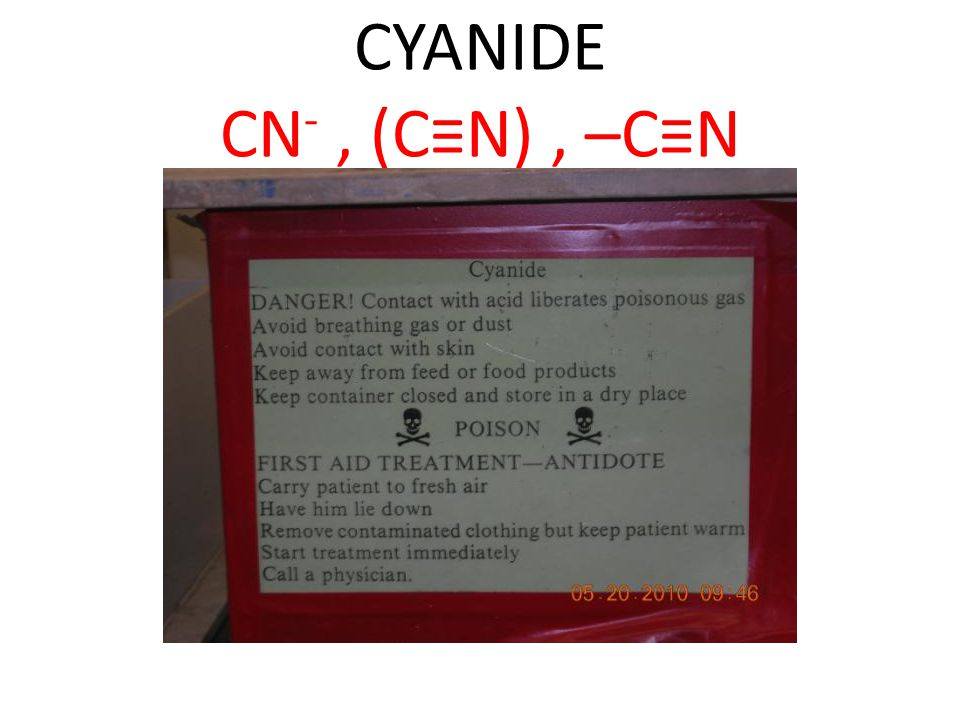 SAFETY GUIDELINES Managing cyanide safely requires effective segregation of cyanide solutions.