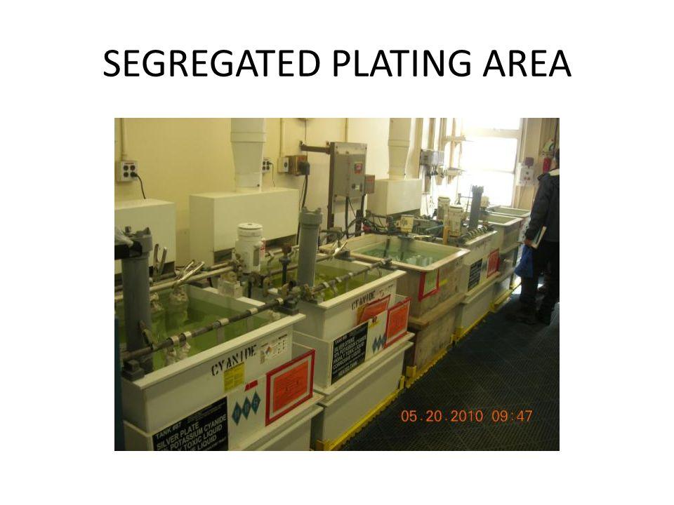 SEGREGATED PLATING AREA