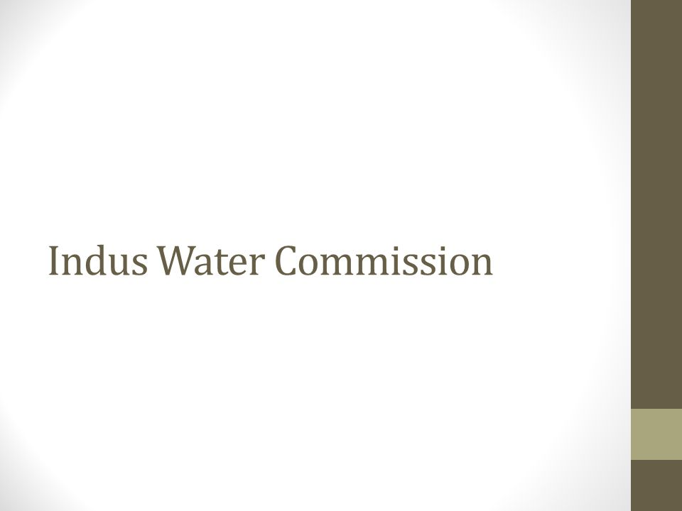 Indus Water Commission