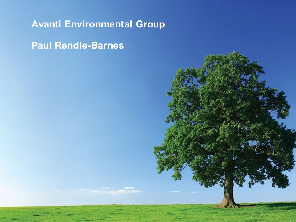 Avanti Environmental Group Paul Rendle-Barnes
