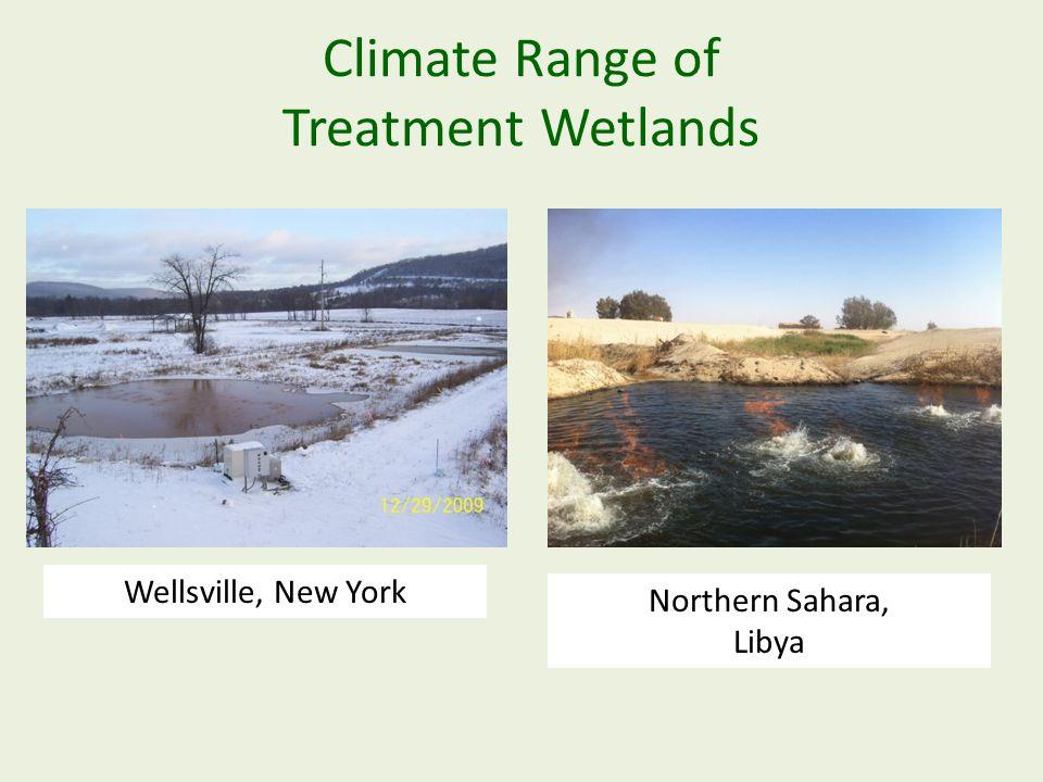 Climate Range of Treatment Wetlands Wellsville, New York Northern Sahara, Libya