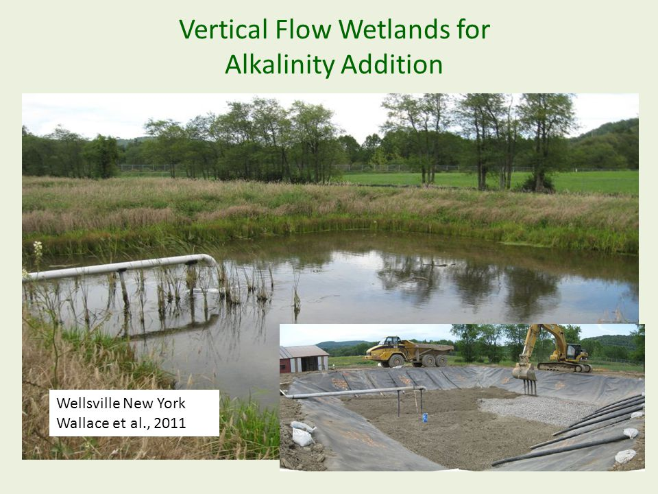 Vertical Flow Wetlands for Alkalinity Addition Wellsville New York Wallace et al., 2011
