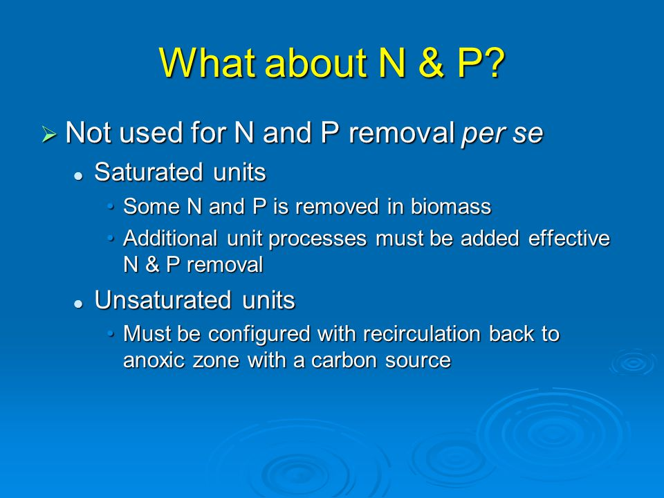 What about N & P.