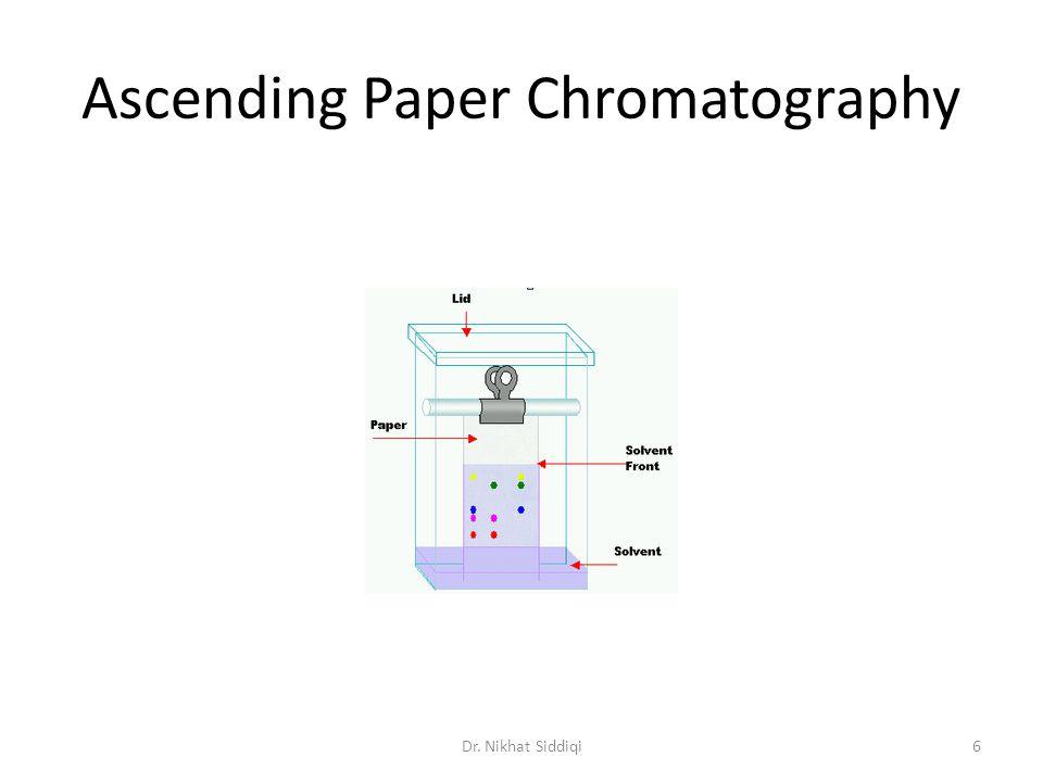 Ascending Paper Chromatography Dr. Nikhat Siddiqi6