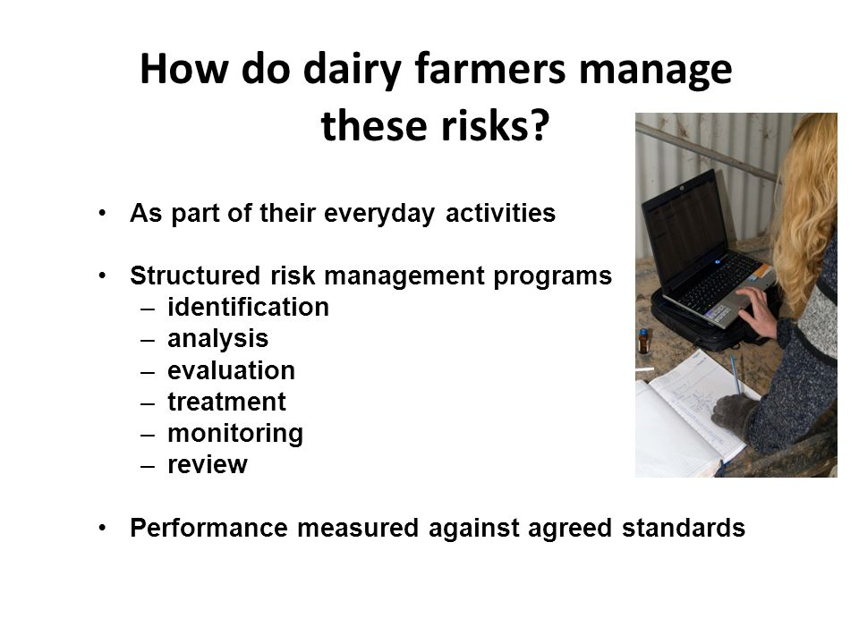 How do dairy farmers manage these risks.