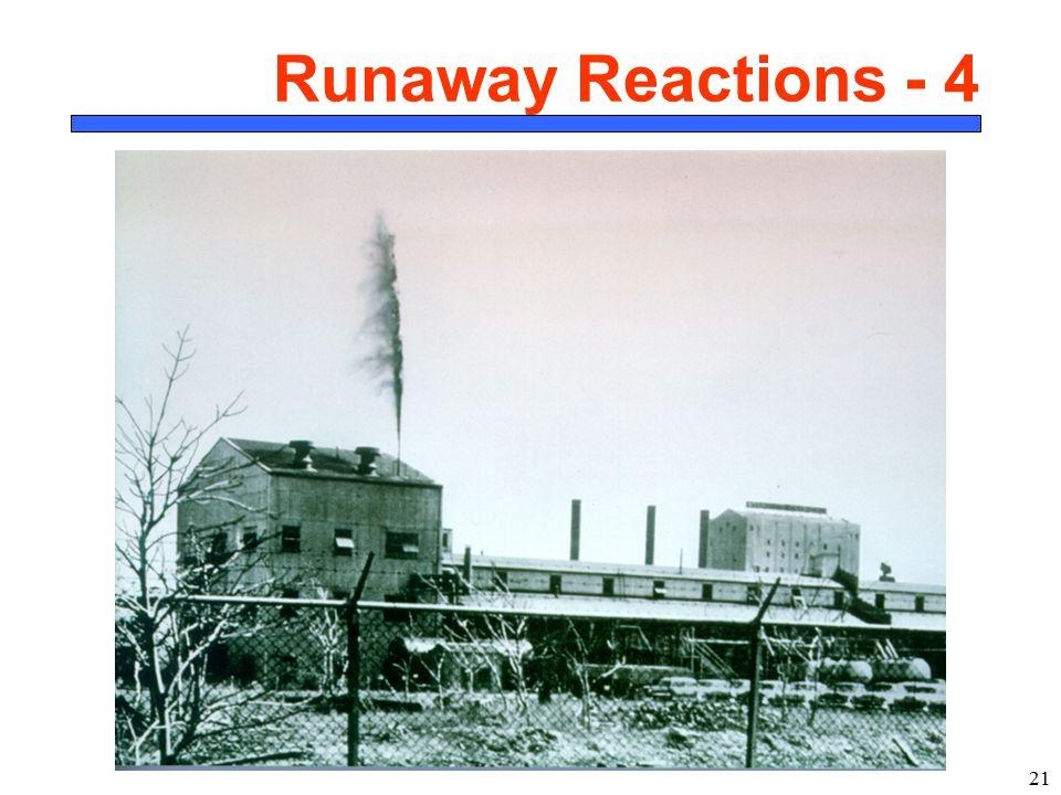 21 Runaway Reactions - 4