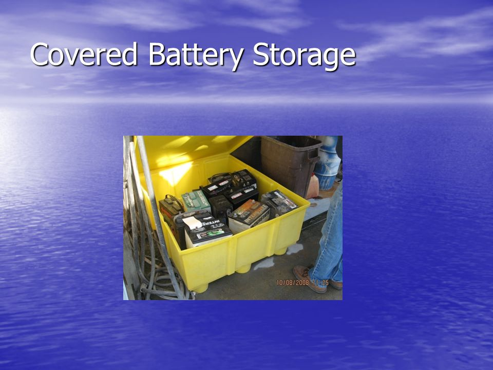 Covered Battery Storage