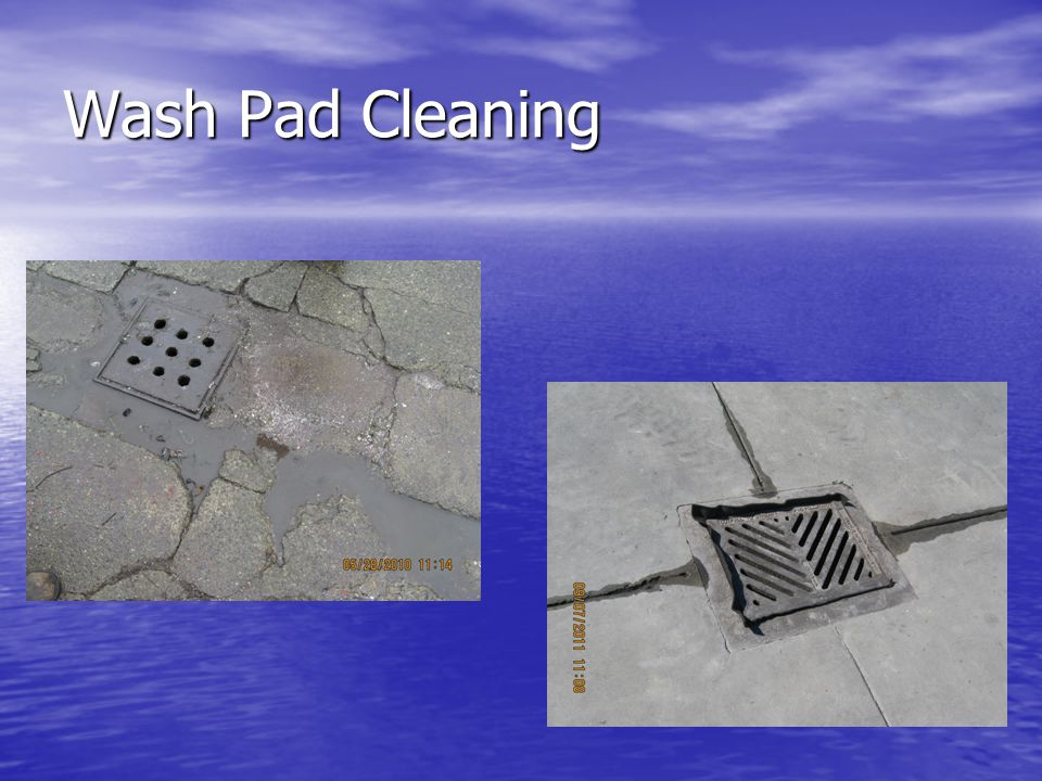 Wash Pad Cleaning