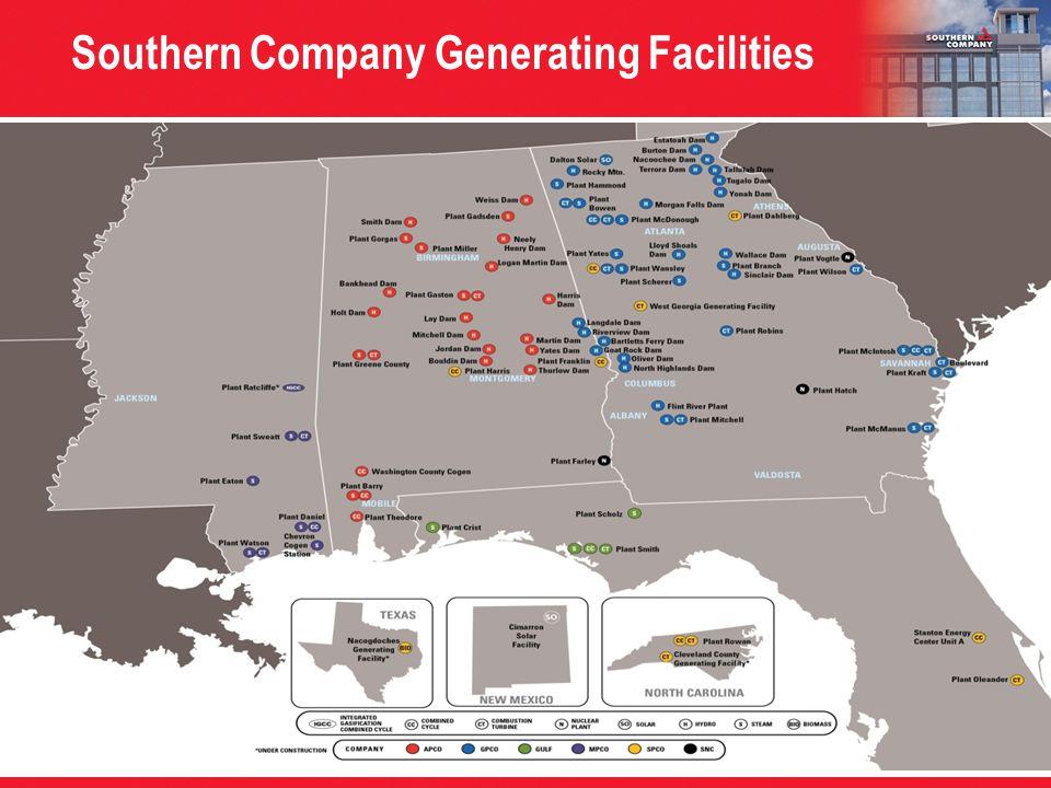 Southern Company Generating Facilities