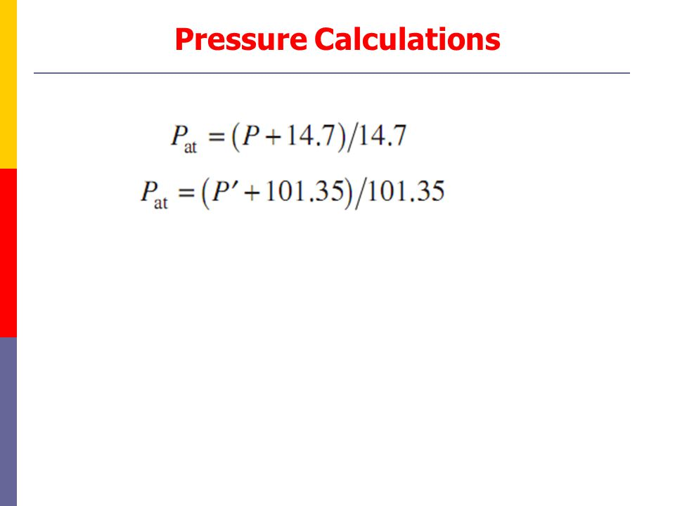 Pressure Calculations
