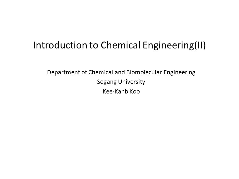 What is the Chemical Engineering .