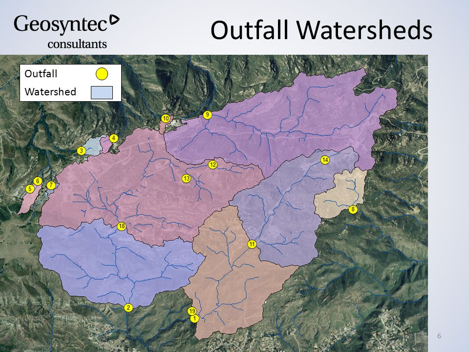 9 th Annual Conference – September 9-11, 2013 – Lake Tahoe, CA Outfall Watersheds 6 Outfall Watershed