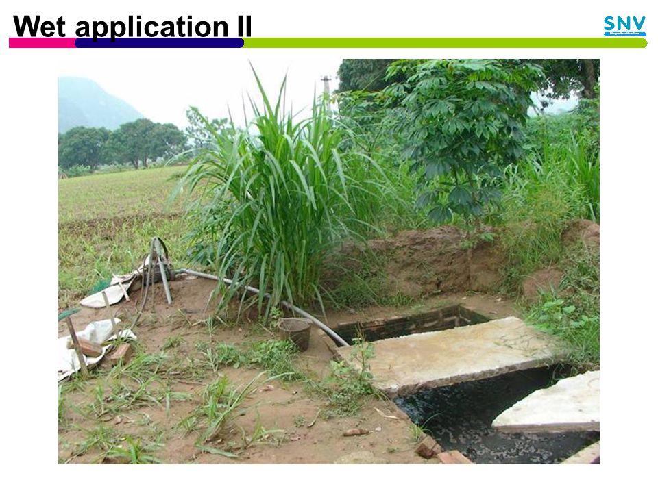 Wet application II
